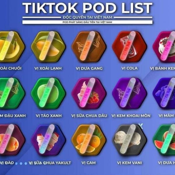 Tiktok pod dùng 1 lần 600 hơi đèn Led siêu đẹp
